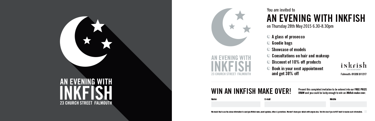 An Evening With Inkfish Promotion Invite